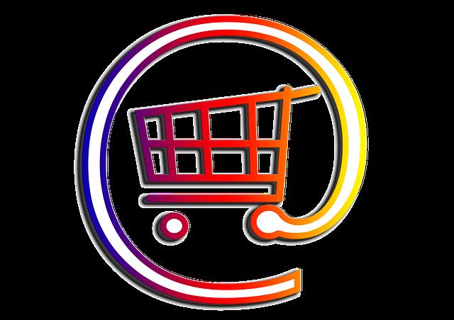 nákupní košík internetu